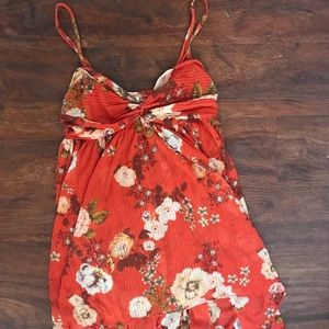 Free People floral red dress